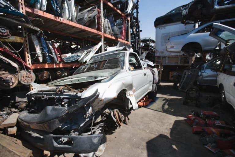 scrap cars in auckland junkyard